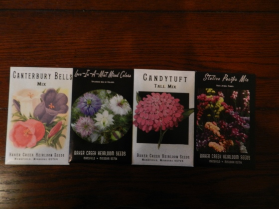 Canterbury Bells, Love-In-A-Mist, CandyTuft, Statice Pacific Mix